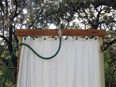 outdoor shower curtain rod build shower itself cool diy garden shower from euro