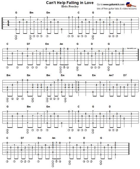 fingerstyle tutorial pdf can t help falling in love elvis presley acoustic