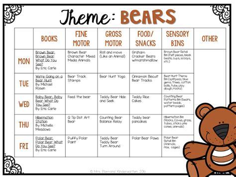 Kindergarten Activities Bears | tot school bears kindergarten classroom tot school and