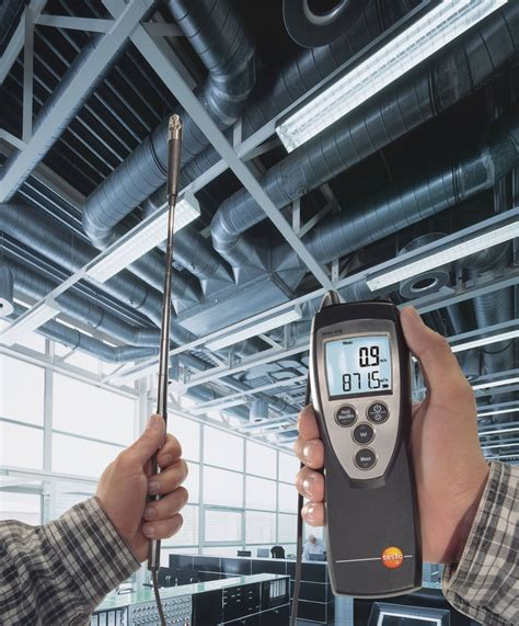 up in the air testo instruments to measure flow velocity with practical