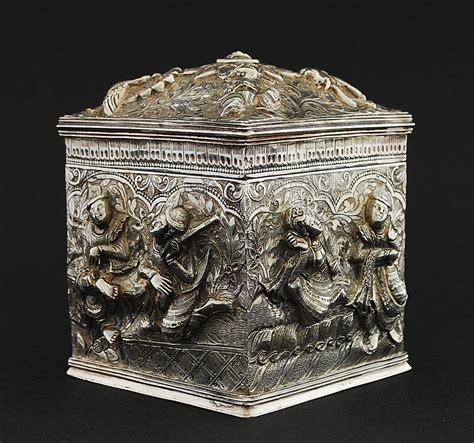 angelaufenes silber burmese tea caddy indian silver burmese kutch etc