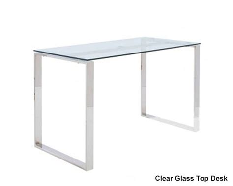 Desk With Glass Top by Style Clear Glass Top Desk Diego Eu 09811clr