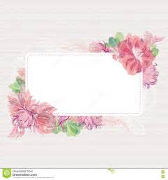 flower card template vector card template with floral border stock