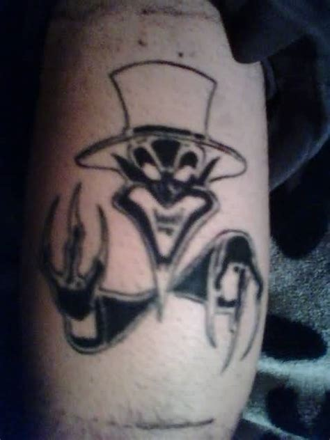 joker tattoo gang new icp joker cards juggalo tattoo on back tattooshunter com