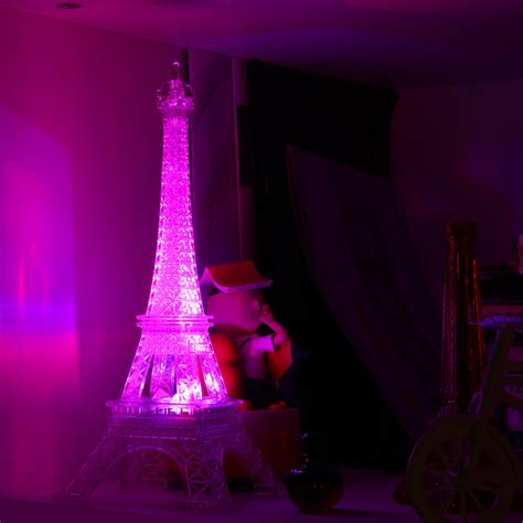 home decoration with lights led color change romantic eiffel tower led night light