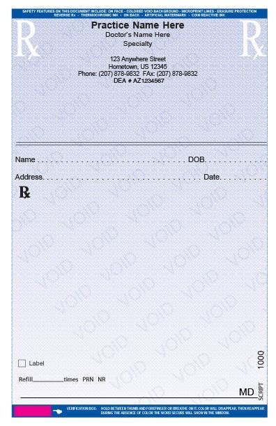 fake prescription pad template business template