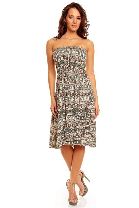 flower pattern midi dress ladies floral pattern print summer beach holiday midi knee