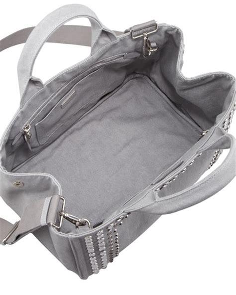 Prad Org Address Search Prada Studded Denim Tote Bag Blue Gray