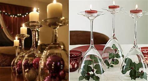 bicchieri decorati per natale tavola di natale le decorazioni fai da te pi 249 facili