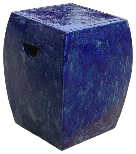 Square Garden Stool by Square Garden Stool Navy Accent And