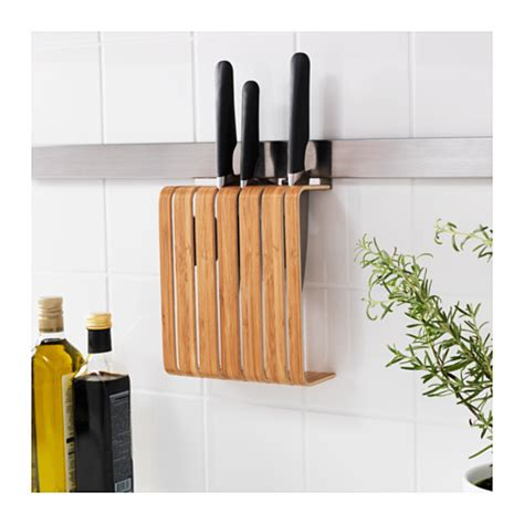 Ikea Kitchen Knives by Rimforsa Knife Holder Bamboo 20x24x7 Cm Ikea