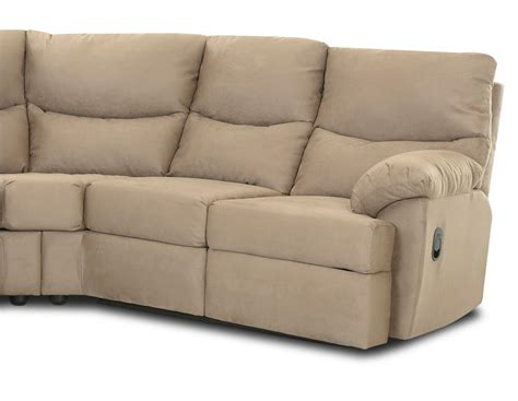 Microsuede Reclining Sofa by Klaussner Bristol Reclining Sectional Sofa Set