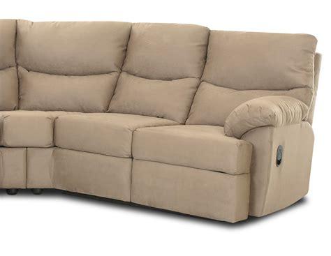 Microsuede Reclining Sofa Klaussner Bristol Reclining Sectional Sofa Set Microsuede Cappucino Kl 69903 Wrls Set At