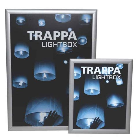 hanging light box display trappa light boxes hanging graphic hardware display aisle