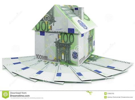 in house mortgage house mortgage euro stock photos image 31856793