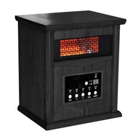 comfort zone infrared heaters comfort zone 750 1500 watt infrared wood cabinet quartz
