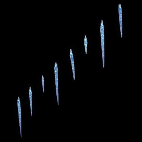 home accents holiday 25 light led blue icicle lights with