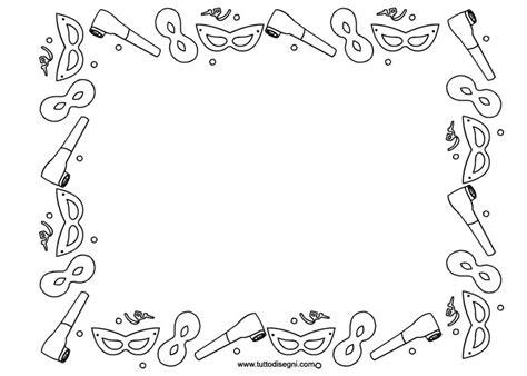 cornici carnevale cornicetta di carnevale da colorare tuttodisegni