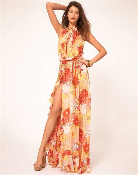 Miss Sixty Dress lyst miss sixty miss sixty floral maxi dress