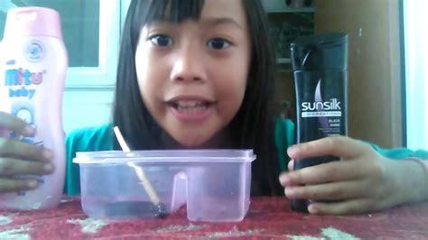 cara membuat slime aisyah hanifah cara membuat slime tanpa lem deterjen dan borax youtube