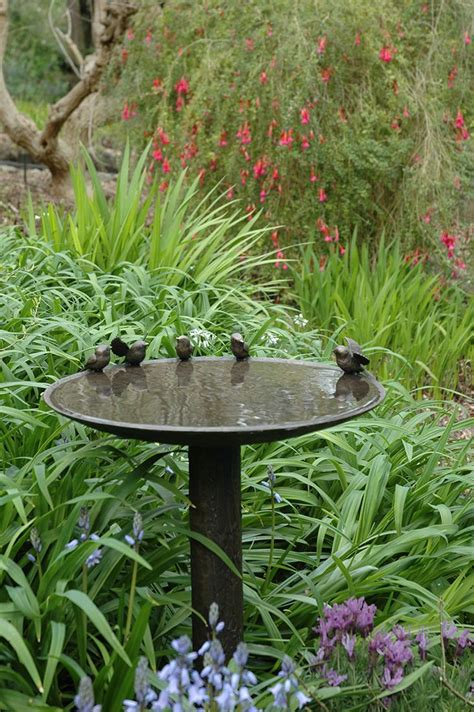 garden bird bath beautiful bird bath in the garden home garden