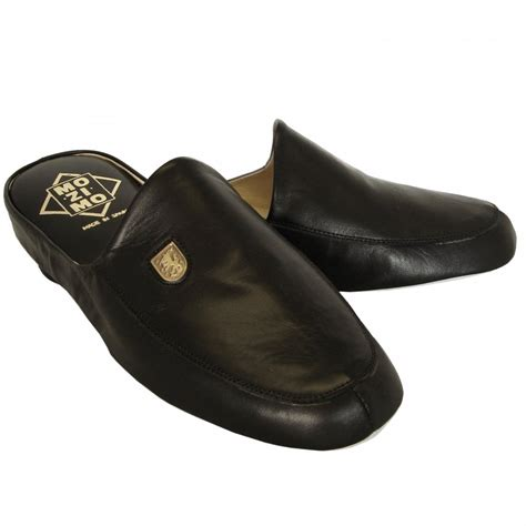 black slipper shoes mens leather slipper relax williams buy mens