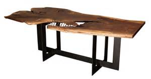 Walnut Dining Room Table And Chairs Live Edge Dining Tables