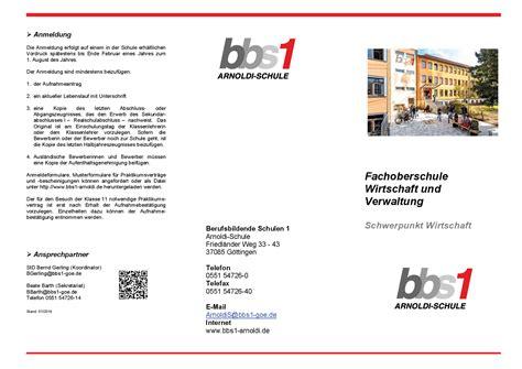 Praktikum Bewerbung Wirtschaft Und Verwaltung Bbs1 Arnoldi Schule