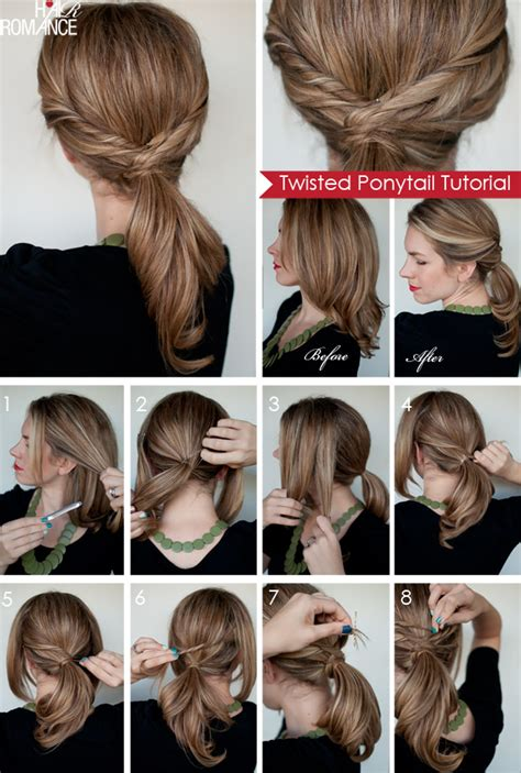 how to tie a twisted pony tail step by step twisted ponytail tutorial hair romance