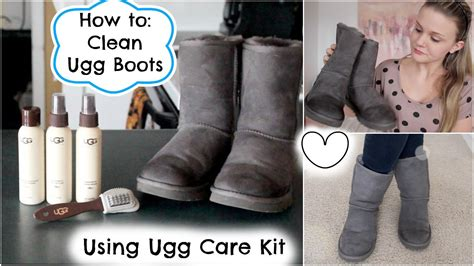 how to clean ugg boots using ugg care kit
