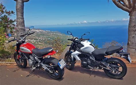 Motorrad Mieten La by La Palma Motorrad News Ducati Scrambler Zu Mieten La