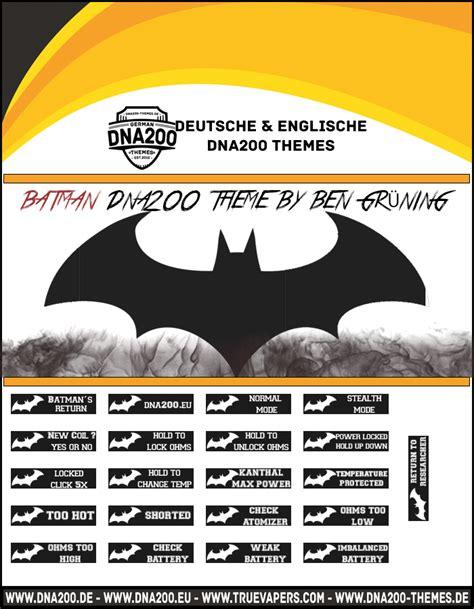 themes dna 250 batman dna200 theme themes and custom screens evolv