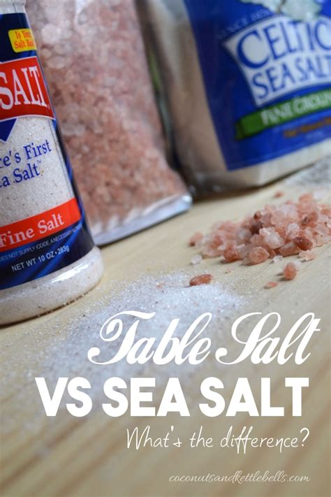 sea to table meal kit table salt vs sea salt what s the difference coconuts