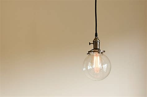 Industrial Glass Pendant Lights Glass Vintage Industrial Pendant Light Fixture 6