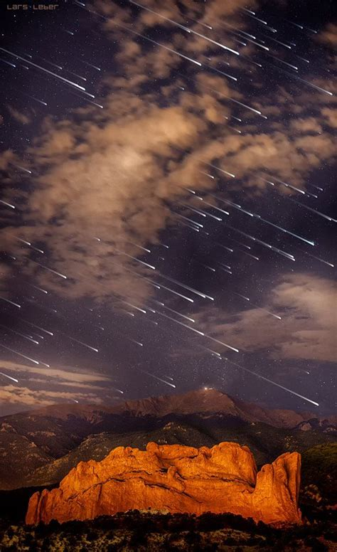 honeymoon meteor shower over pikes peak colorado