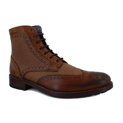ted baker boots mens ted baker sealls 9 12809 mens laced leather brogue ankle
