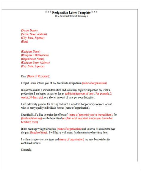 Resignation Letter Regret by 4 Resignation Letter With Regret Template 5 Free Word Pdf Format Free Premium