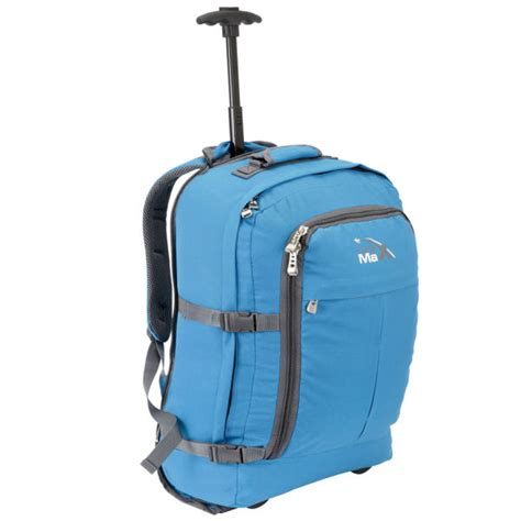 cabin max bags cabin max lyon trolley bag blue mens accessories