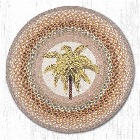 palm trees round rugs rug