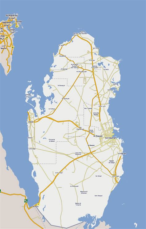 qatar on map of world maps of qatar detailed map of qatar in tourist