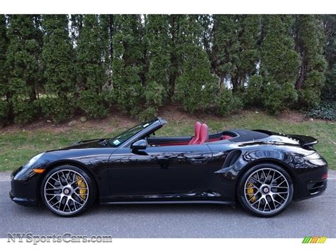 black porsche convertible 2015 porsche 911 turbo s cabriolet in basalt black