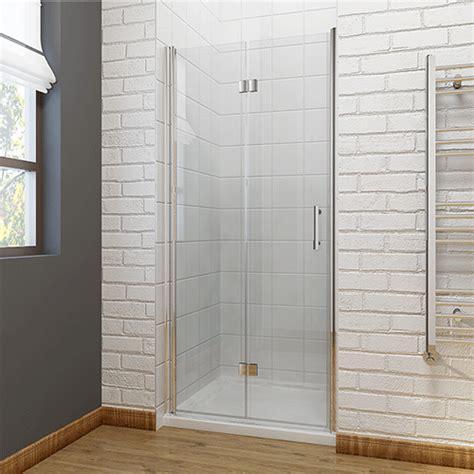 Bi Fold Shower Door Frameless Frameless Bifold Shower Door Enclosure Hinge Door Glass Screen Walk In Cubicle Ebay