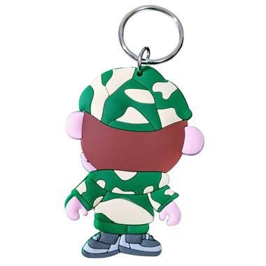 franks keychain paul frank rubber keyring dashing promo ltd