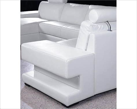 White Leather Sofa Sets by 4pc White Leather Sectional Sofa Set 44l0557