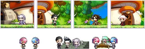 maplestory haircut quest updated v 185 maplestory x re zero update preview