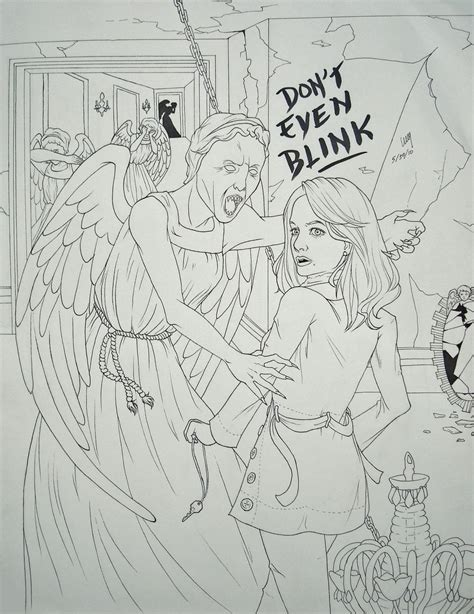 weeping angels coloring page beware the weeping angels by treesquirrel2 on deviantart