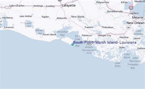 louisiana islands map south point marsh island louisiana tide station location