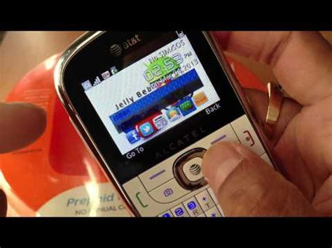 Alcatel 871a Gophone Prepaid Phone at t prepaid phone alcatel 871a go phone review how to