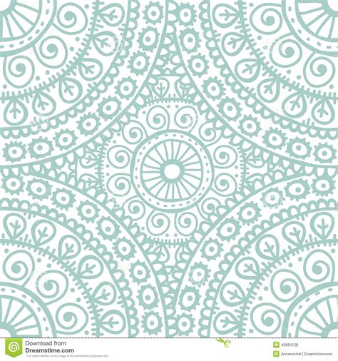 light blue l hand drawn mandala seamless pattern in light blue l tones