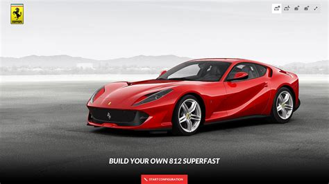Ferrari Config by Ferrari 812 Superfast Car Configurator Is Up And Running